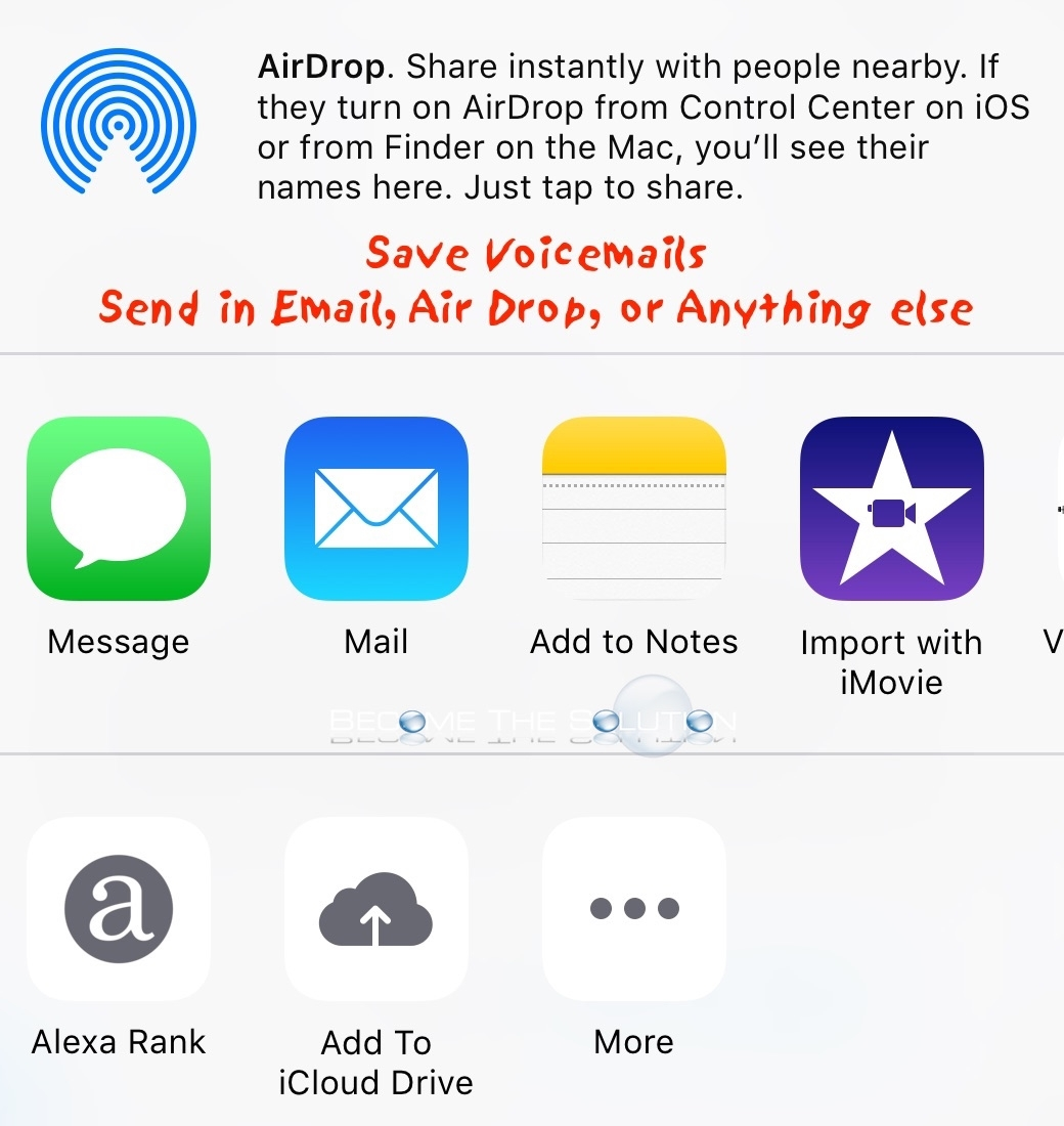Iphone Share Voicemails