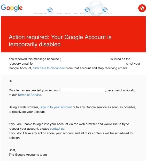 Fix: Action Required: Your Google Account is Temporarily Disabled