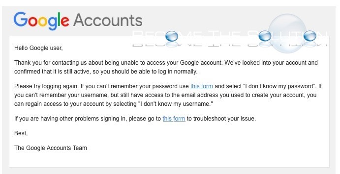 my google account log in