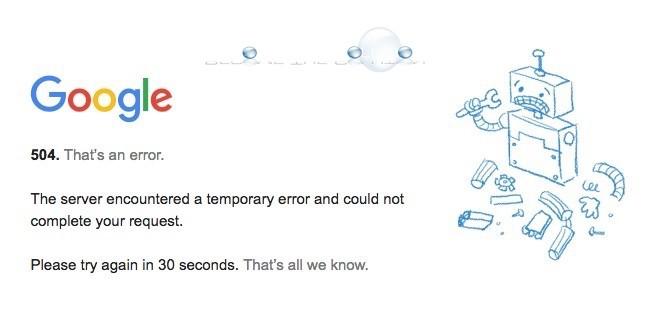 Fix: 504 That's an Error – Google YouTube