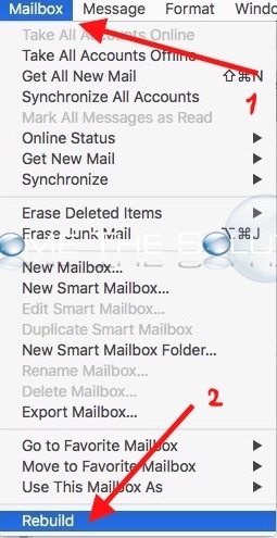 Mac mail rebuild all mailboxes preferences