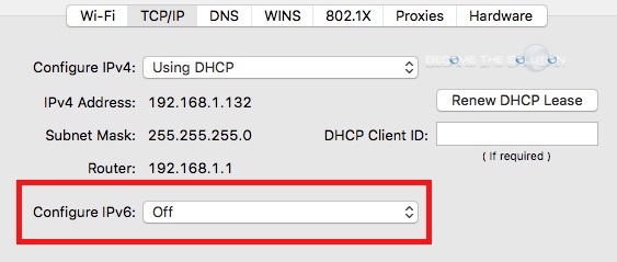 How To: Disable IPv6 Mac OS