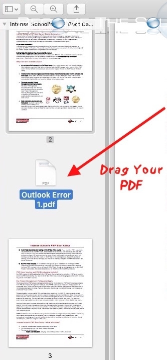 Mac preview drag pdf into thumbnail