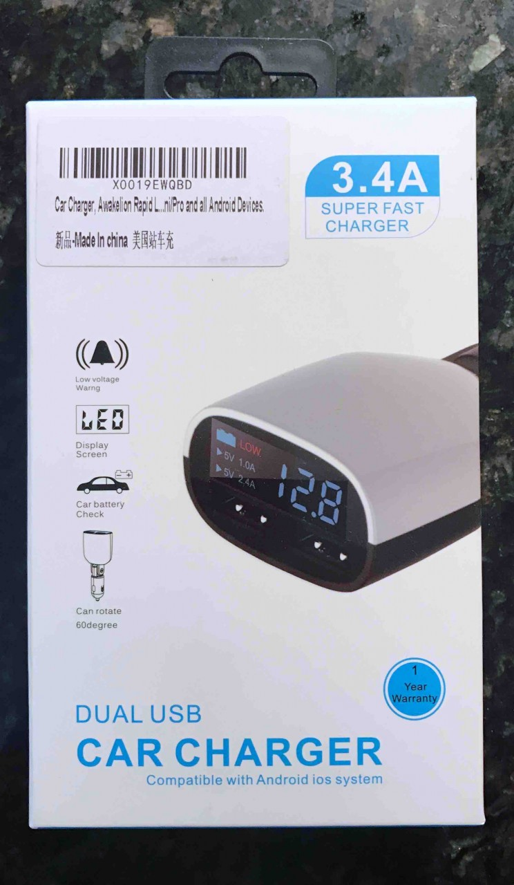 Review: LED Car USB Charger Battery Check by Awakelion