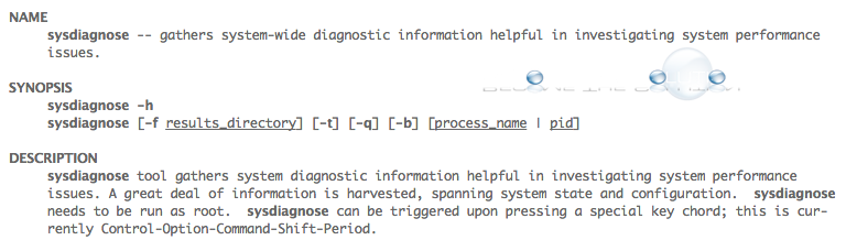 Mac OS X Sysdiagnose – Advanced Mac Troubleshooting Diagnostics