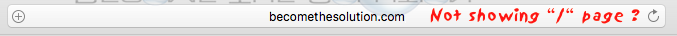 Safari only showing domain name in url bar