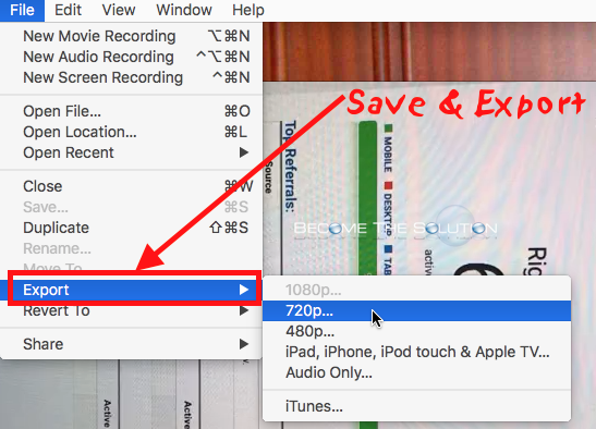 How to rotate and save video on mac os x mac quicktime save rotated video ccuart Images