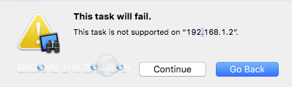 This task will fail this task is not supported