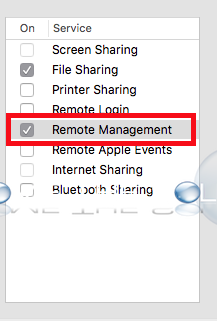 Mac enable remote management sharing