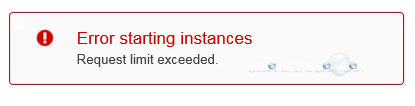 Fix: Error Starting Instances Request Limit Exceeded - AWS