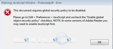 Fix this document requires global security policy to be disabled fix this document requires global security policy to be disabled adobe acrobat ccuart Gallery