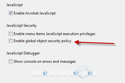 Fix this document requires global security policy to be disabled acrobat disable global object security ccuart Gallery