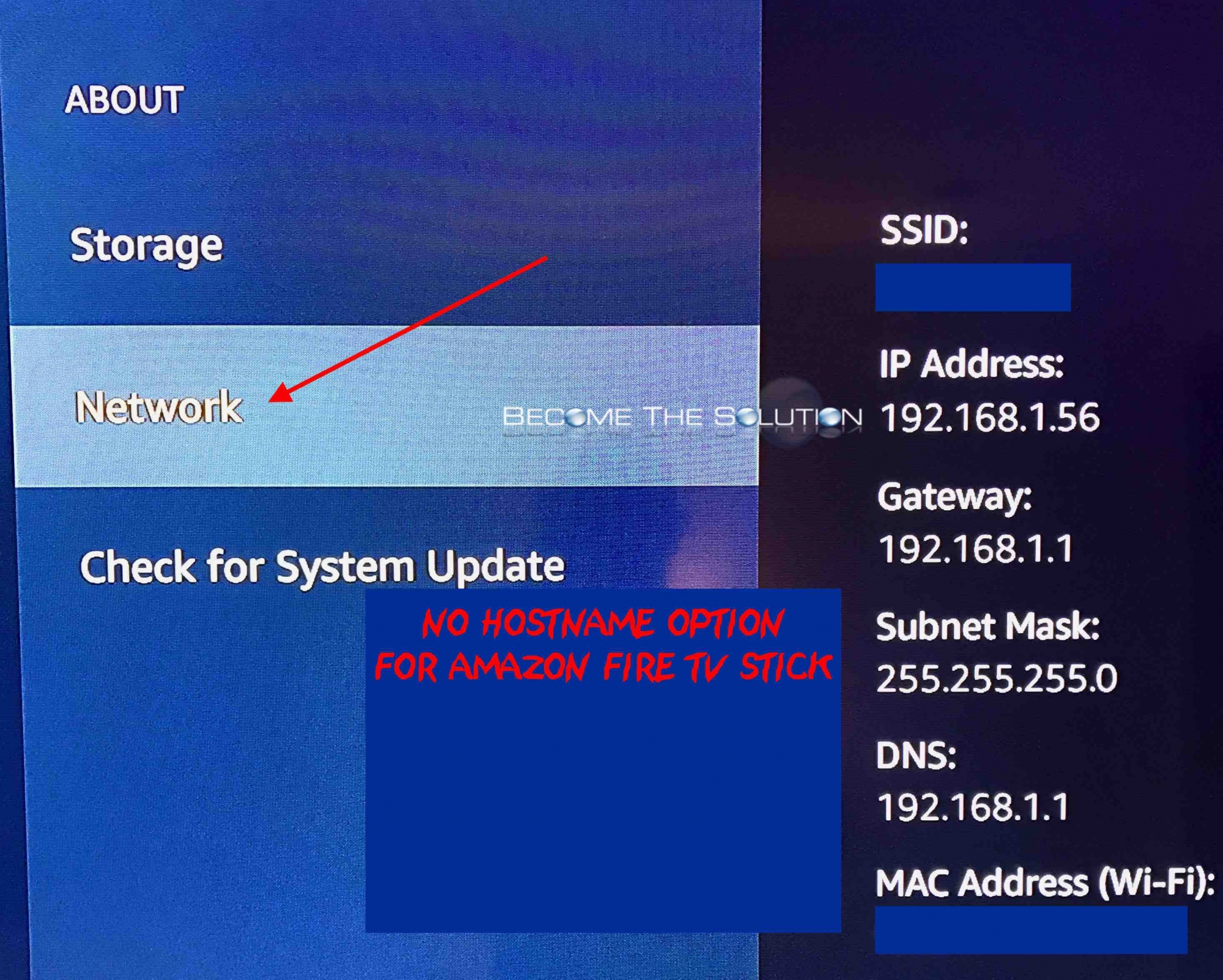 Amazon fire tv stick network hostname