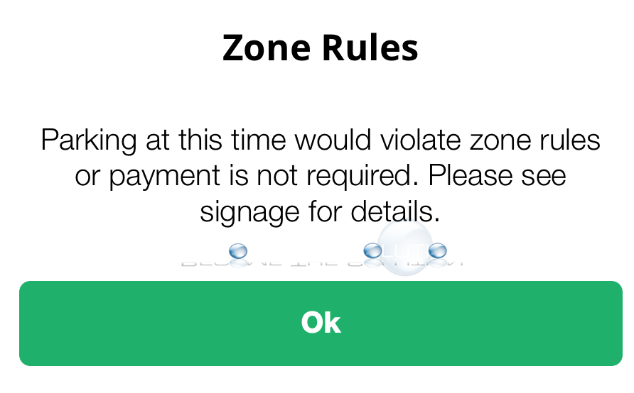 Parking at this Time Would Violate Zone Rules or Payment is not Required – Park Chicago