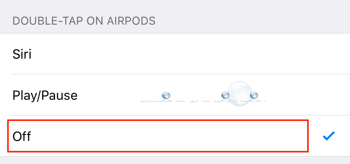 Apple airpods double tap turn off