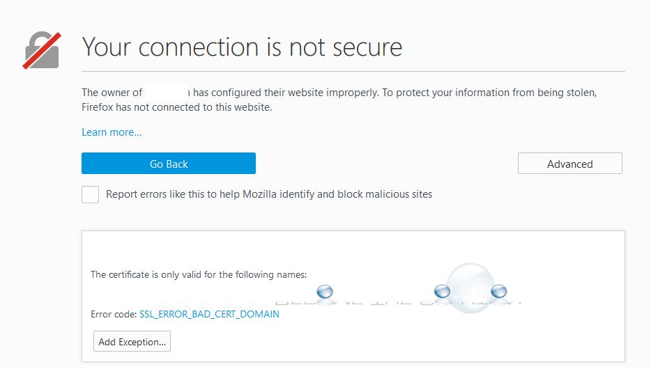 Fix: SSL_ERROR_BAD_CERT_DOMAIN – Firefox