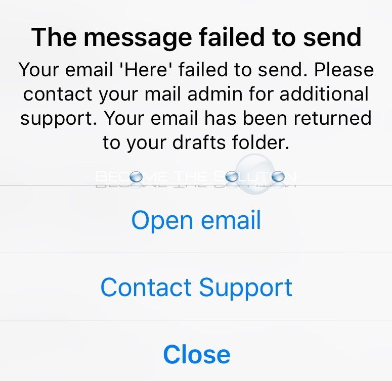 Fix: The Message Failed to Send – iPhone