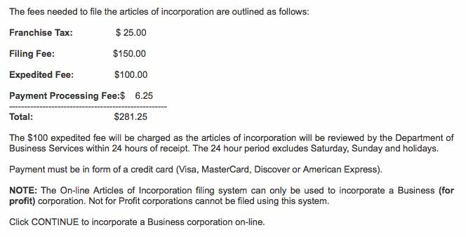 Illinois Articles of Incorporation