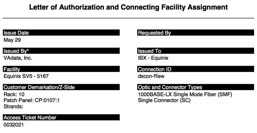Letter of authorization loa examples providers loa equinix spiritdancerdesigns Choice Image