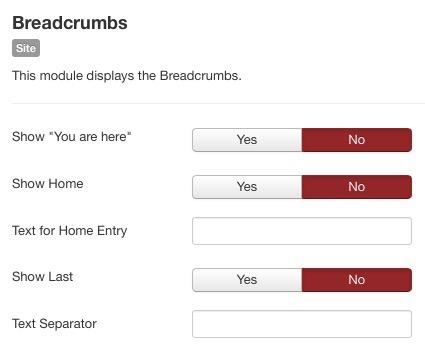 Joomla Hide Breadcrumbs