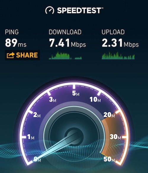 Metra Wifi Speed Test