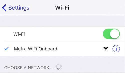Metra Wireless Network Name