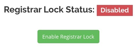 Transfer Domain Name Locked Registrar