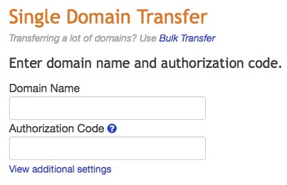 Transfer a Single Domain Name