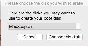 usb disk mac x captain